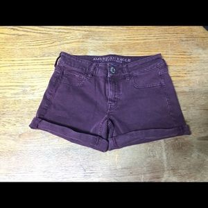 American Eagle Outfitters Wine Color Denim Shorts
